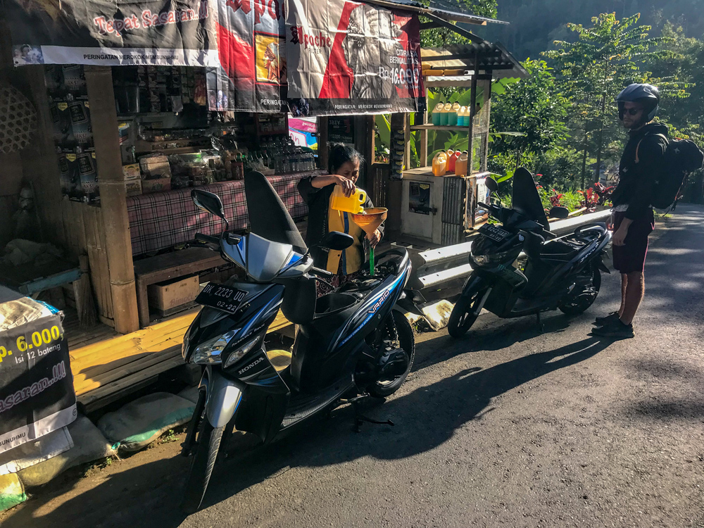 Indonésie Bali Jatiluwih rizières scooter