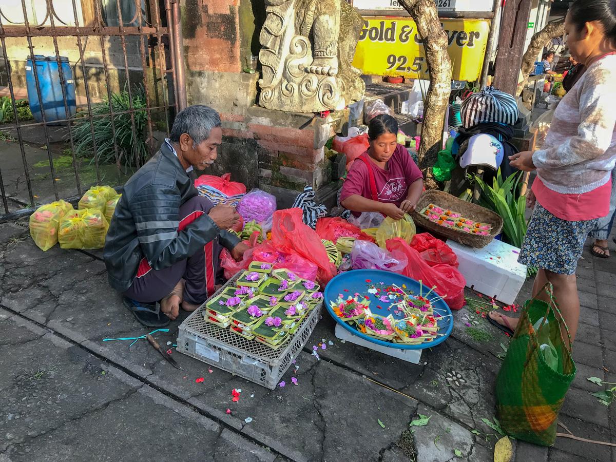 Ubud Indonésie Bali voyage offrande