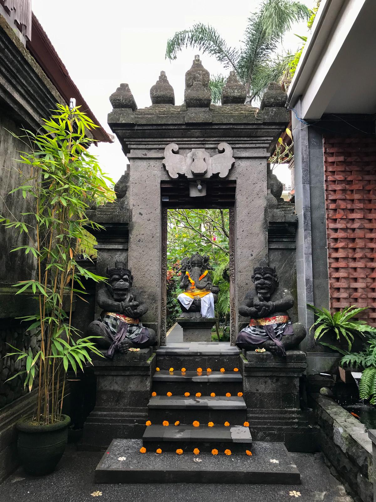 Ubud Indonésie Bali voyage porte