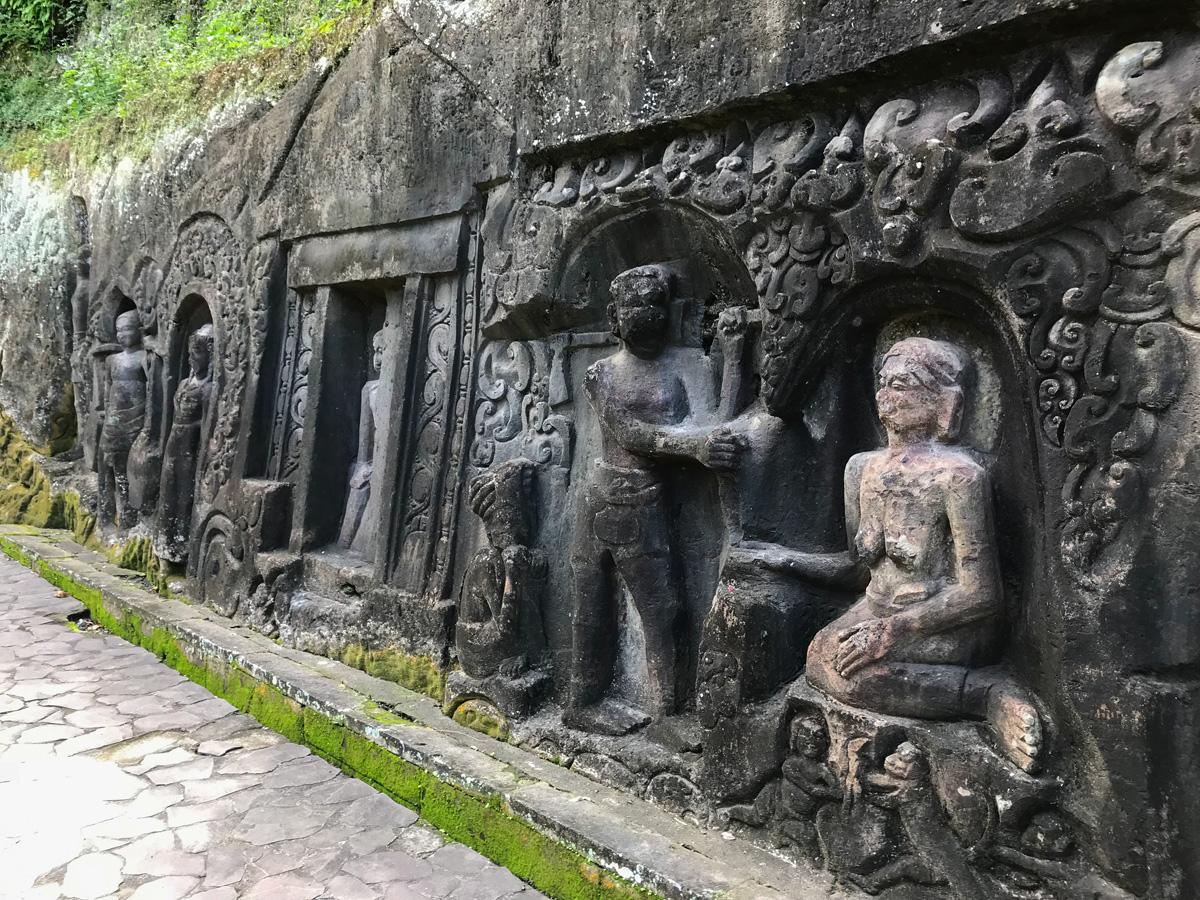 Ubud Indonésie Bali voyage sculpture Yeh Pulu