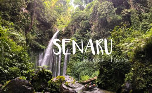 Senaru Lombok Rinjani Cascades Indonésie