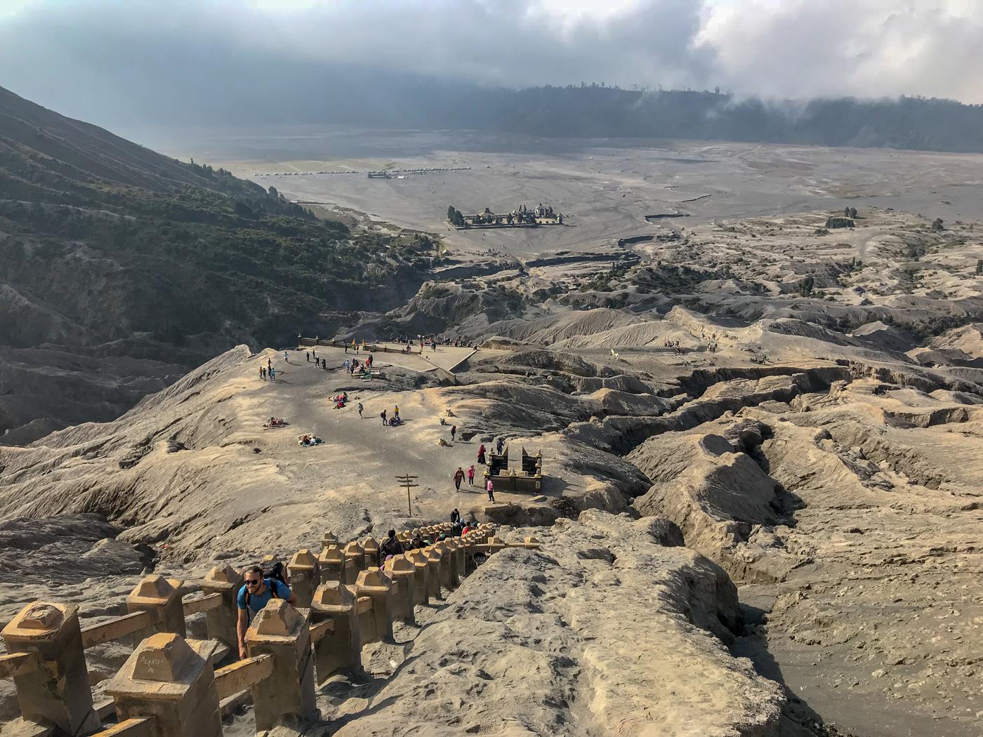 Java Indonésie Bromo volcan escalier