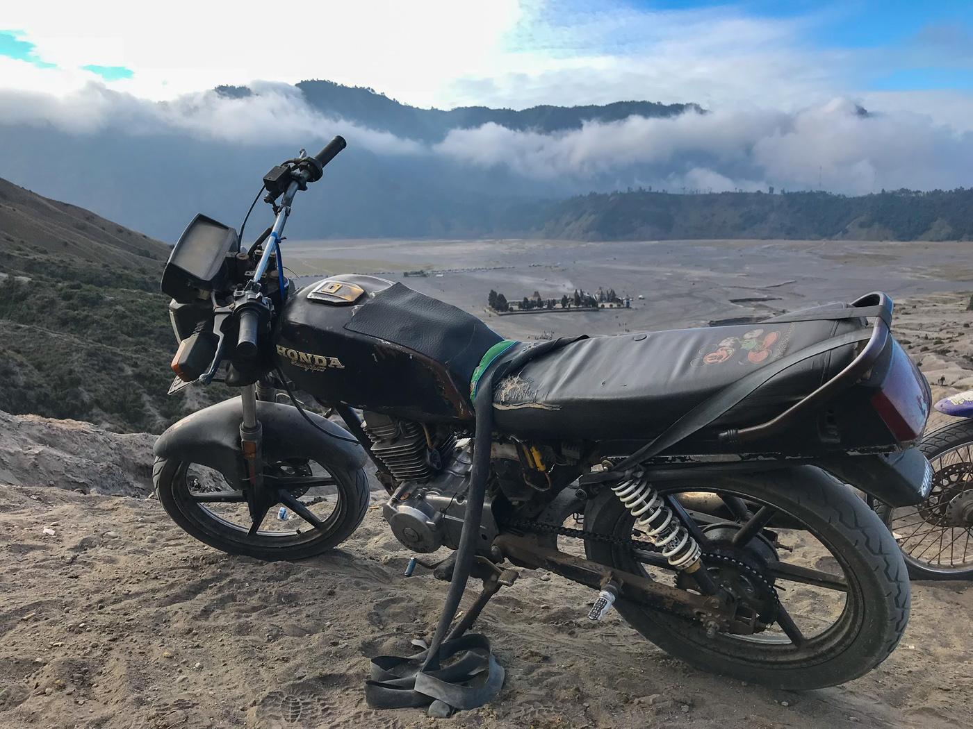 Java Indonésie Bromo volcan moto