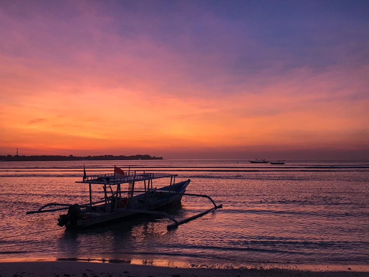 Indonésie Bali Gili Lombok sunset couché de soleil
