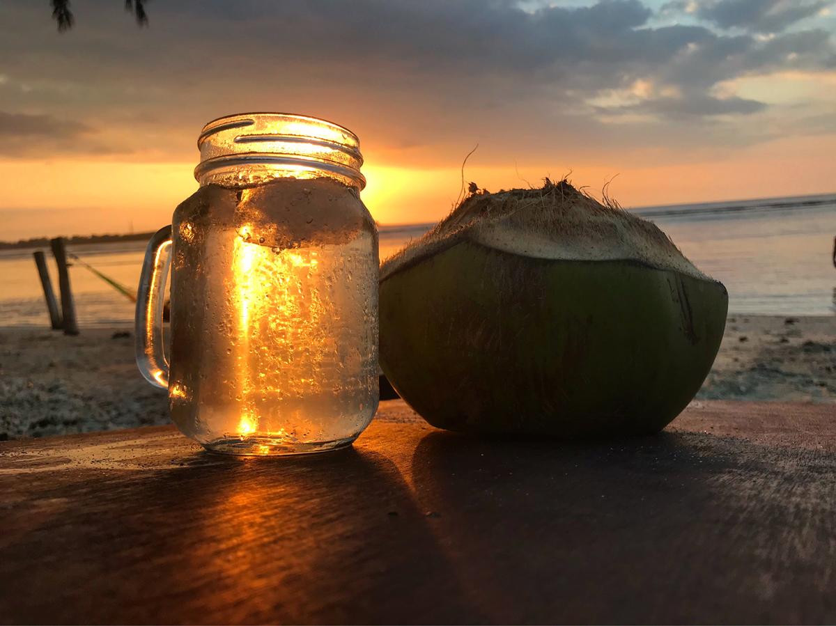 Indonésie Bali Gili Lombok sunset cocktail plage