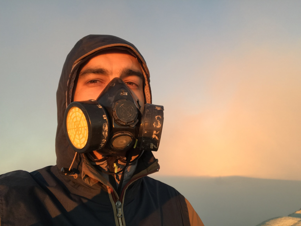 Java Indonésie Kawa Ijen volcan masque