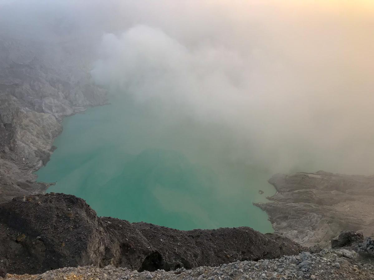 Java Indonésie Kawa Ijen volcan lac