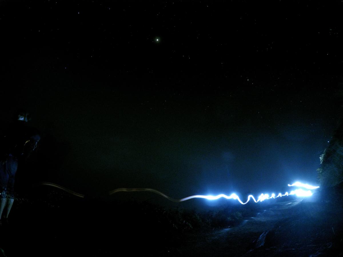 Java Indonésie Kawa Ijen volcan light ascension nuit