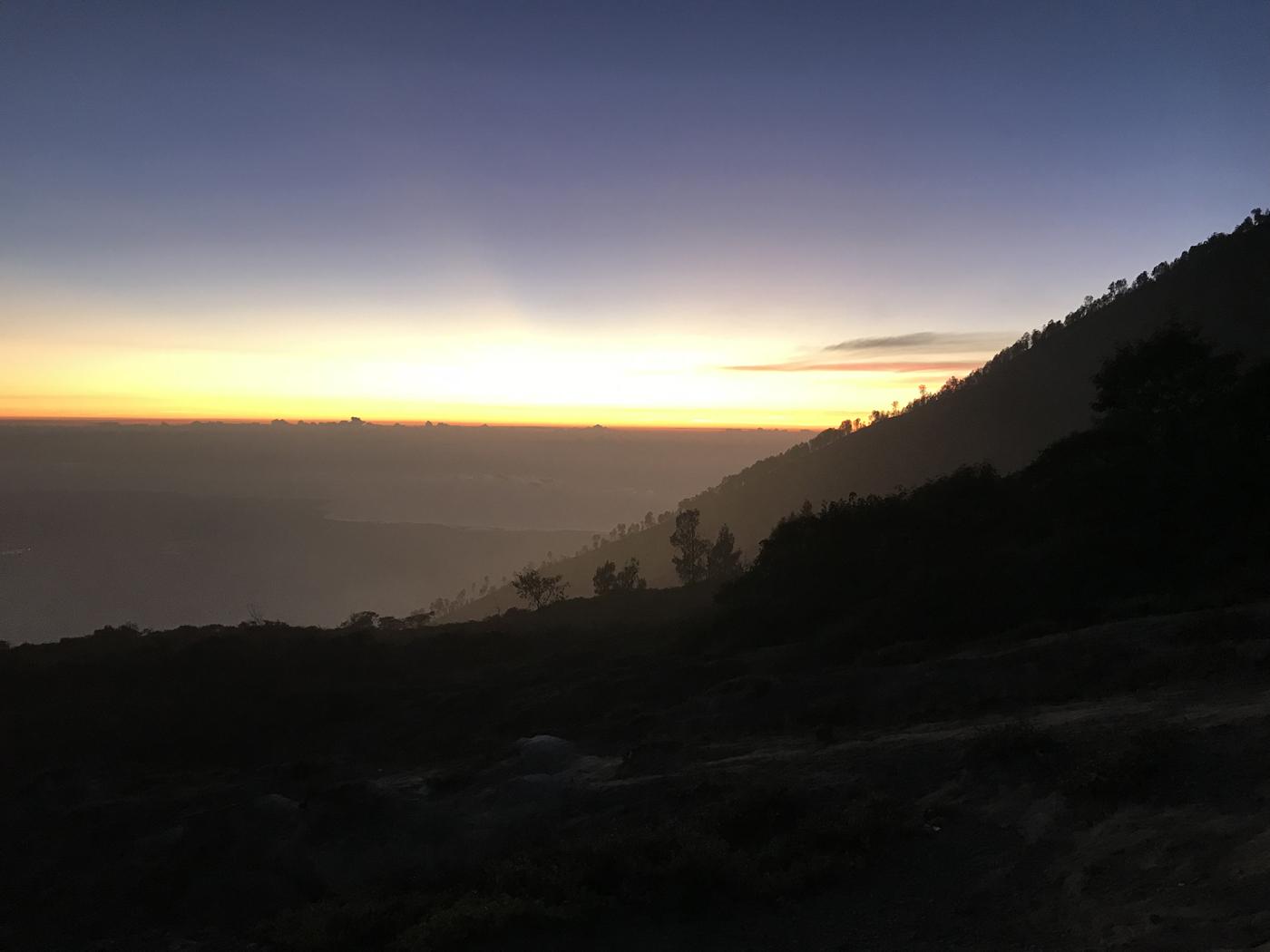 Java Indonésie Kawa Ijen volcan levée de soleil sunrise