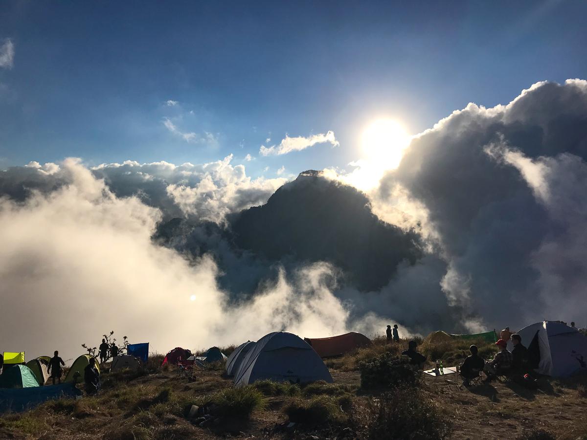Indonesie Lombok Mont Rinjani camp