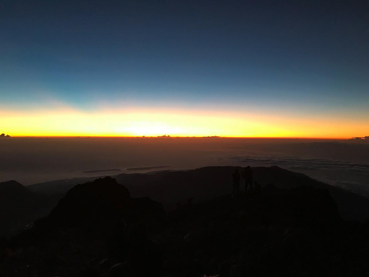 Indonesie Lombok Mont Rinjani levé de soleil