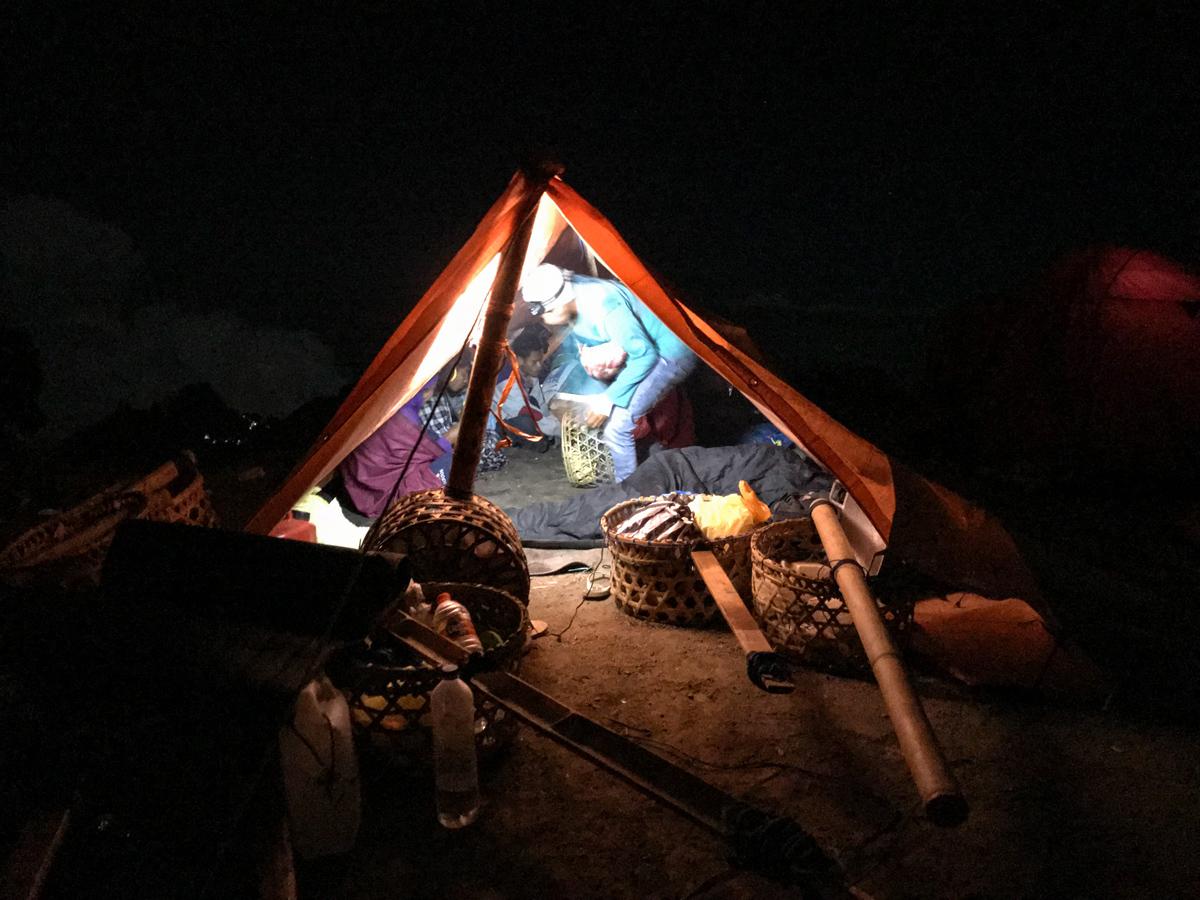 Indonesie Lombok Mont Rinjani Ascension Tente Camp