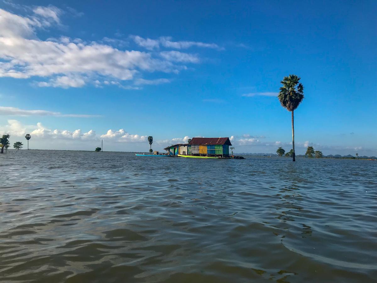 Tempe Lac Sulawesi Indonésie Maison flottante