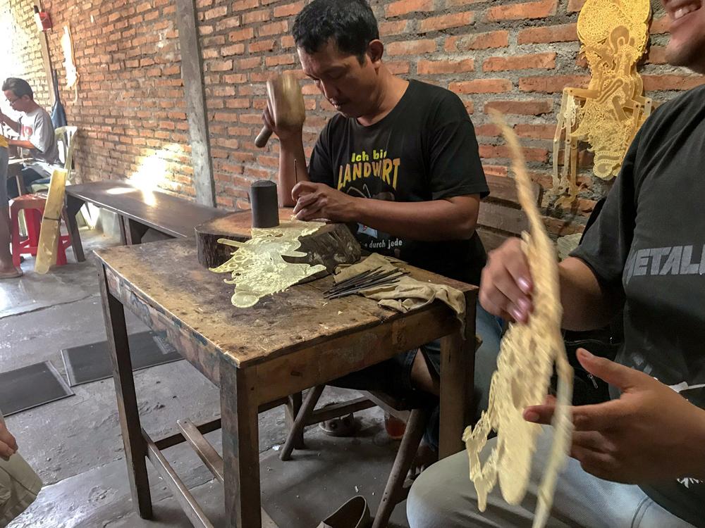 Yogyakarta Java Indonésie marionnette atelier blog voyage
