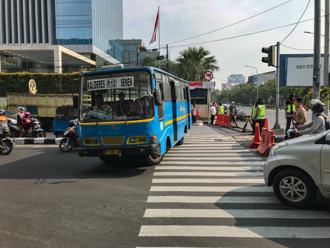 Jakarta Java Indonésie Bus