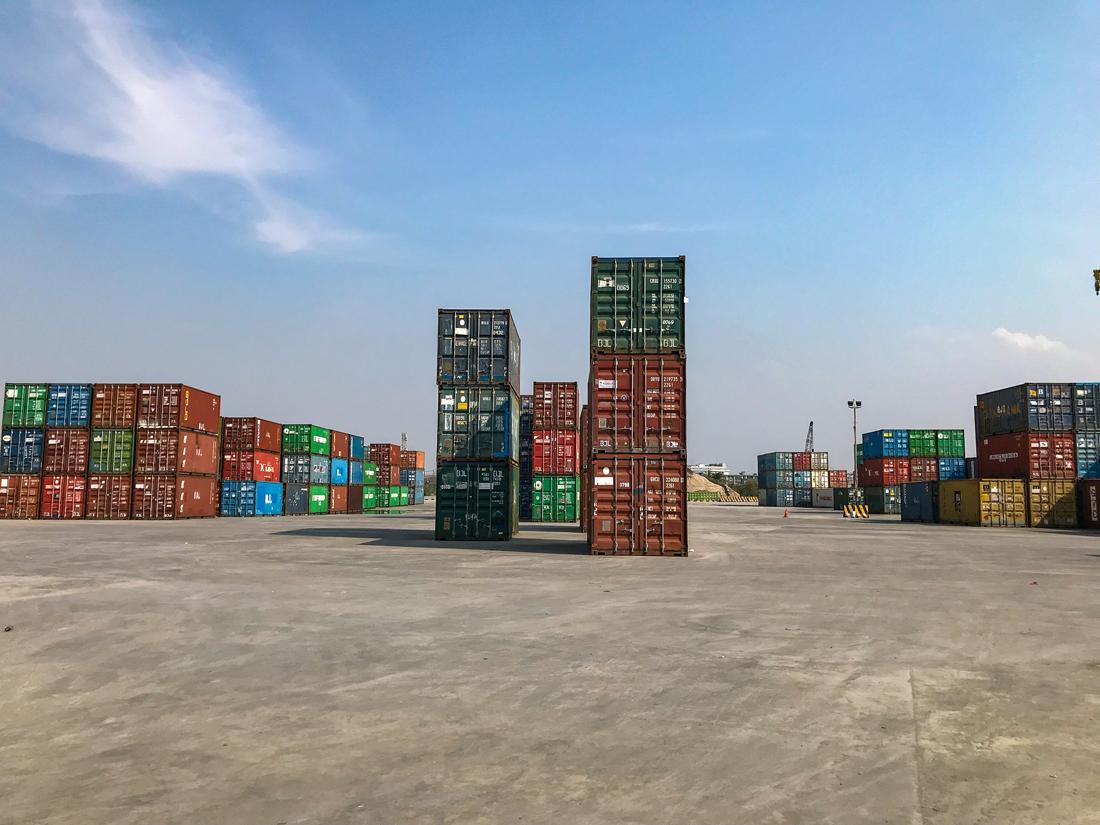 Jakarta Java Indonésie Port Container