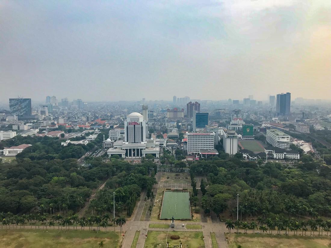 Jakarta Java Indonésie Monas Vue