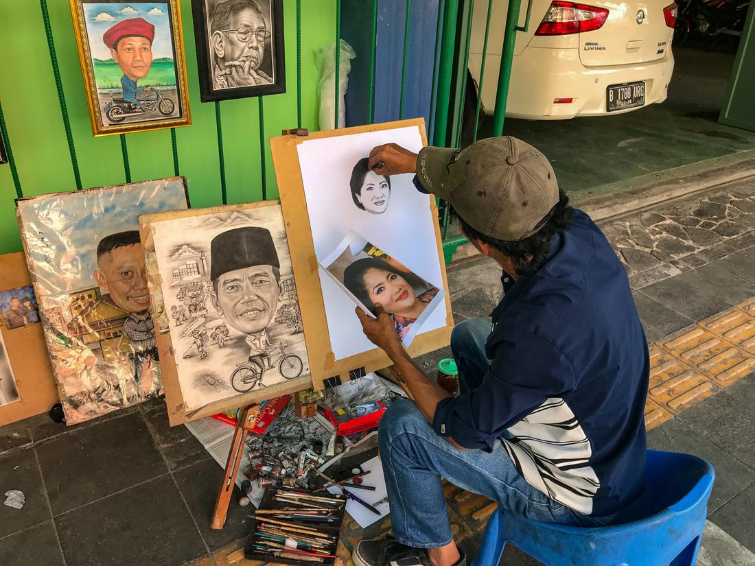 Jakarta Java Indonésie Peintre