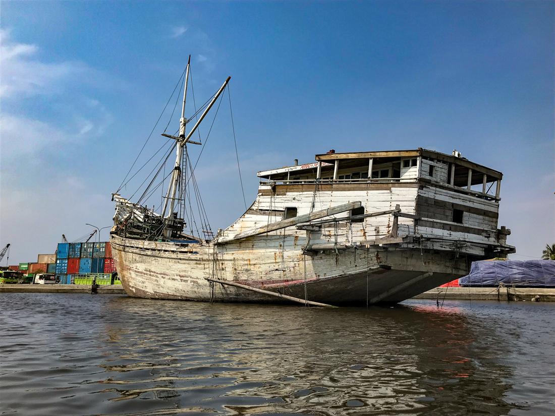 Jakarta Java Indonésie Bateau Pisinis Port