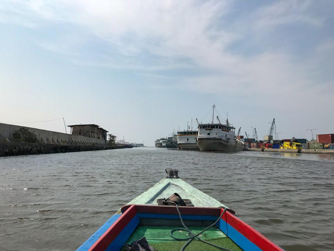Jakarta Java Indonésie Balade Port