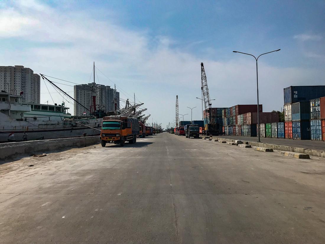 Jakarta Java Indonésie Port