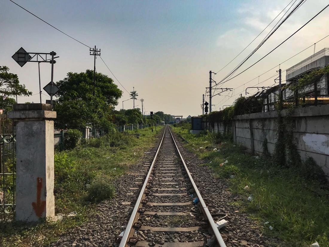 Jakarta Java Indonésie rails