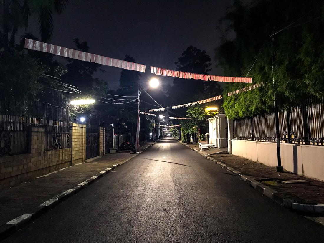 Jakarta Java Indonésie Rue nuit