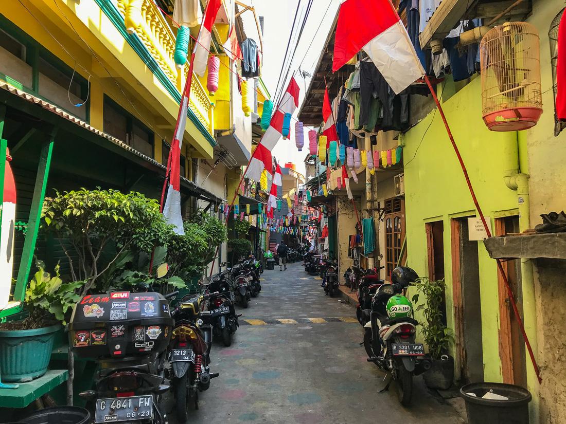Jakarta Java Indonésie Ruelle colorée