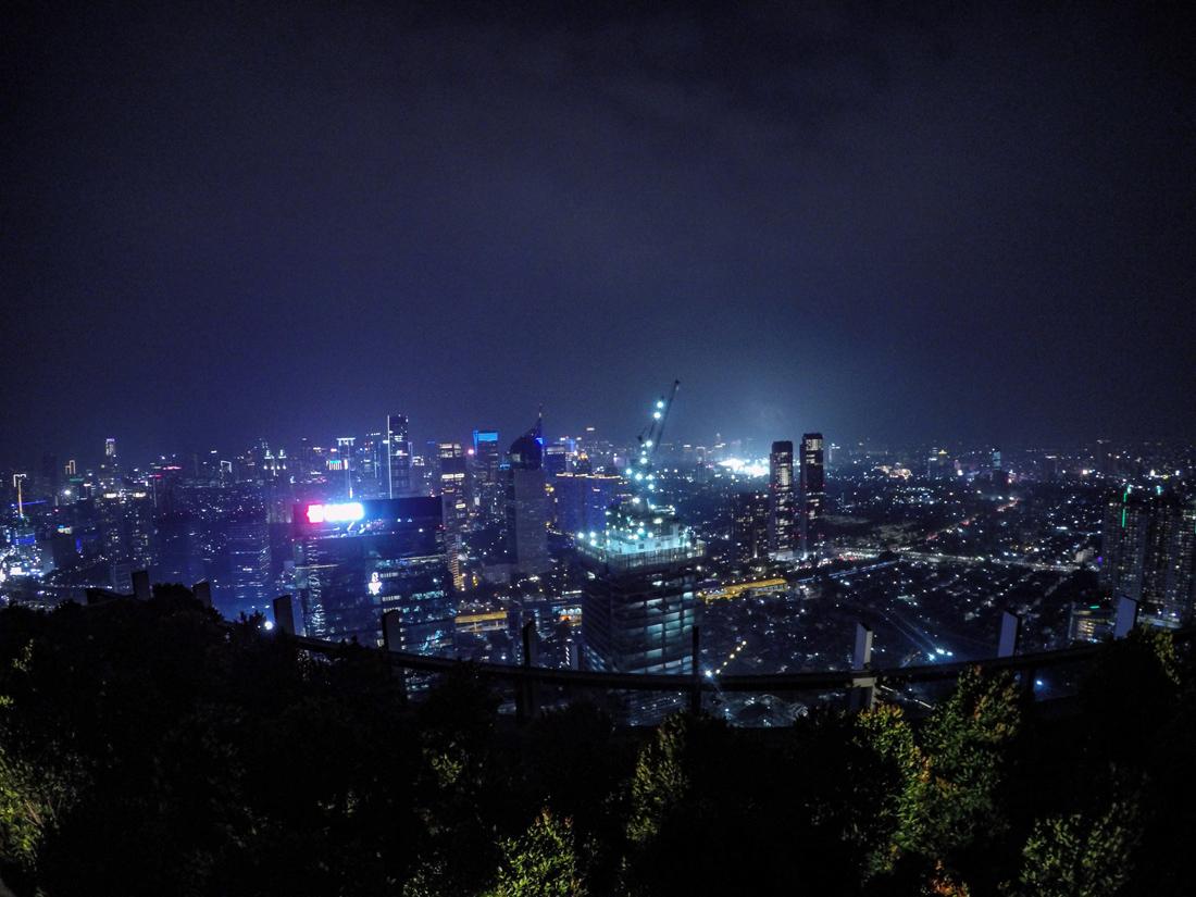 Jakarta Java Indonésie Rooftop Skye Bar Nuit