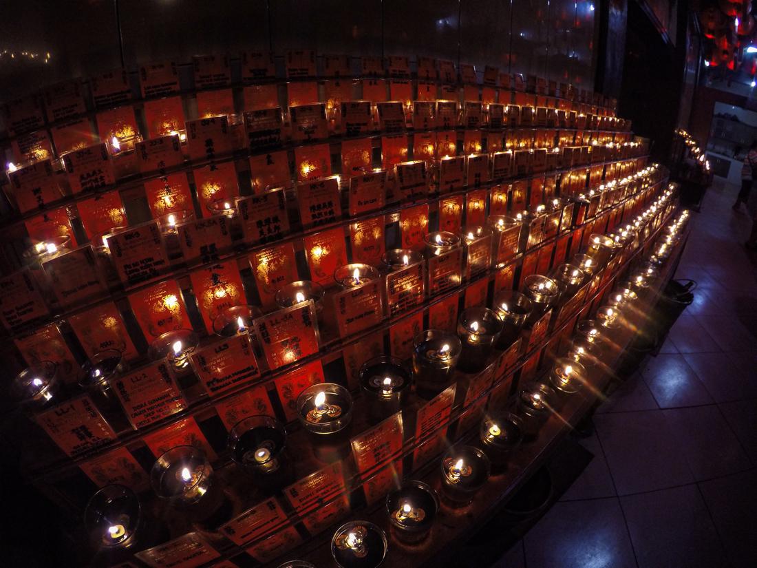 Jakarta Java Indonésie Prière Temple Jaya Toasebio