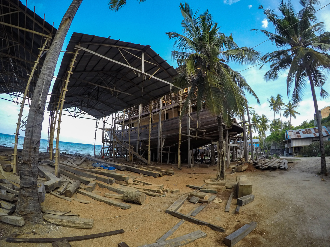 Pantai Bira Sulawesi Indonésie Chantier Bateau
