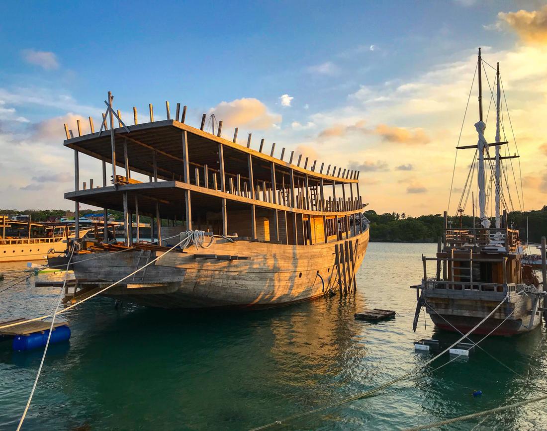 Pantai Bira Sulawesi Indonésie Port Bateau