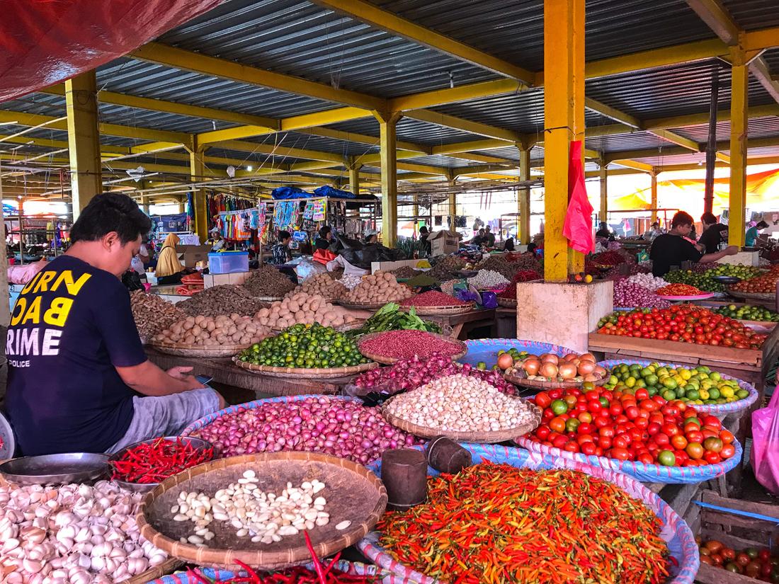 Tomohon Sulawesi Indonésie Marché légumes