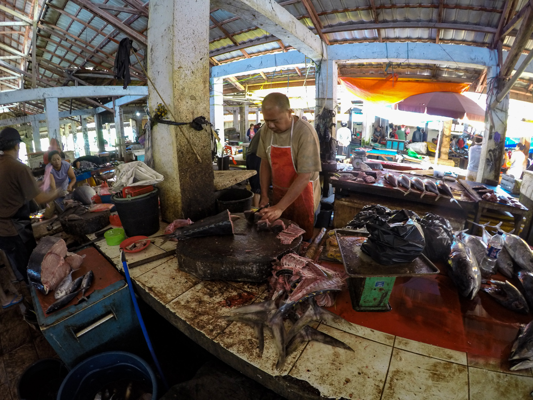 Tomohon Sulawesi Indonésie Marché thon