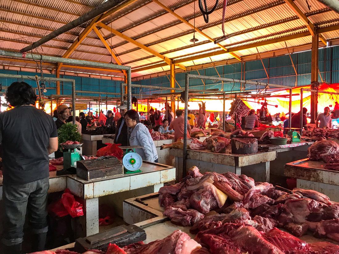 Tomohon Sulawesi Indonésie Marché viande