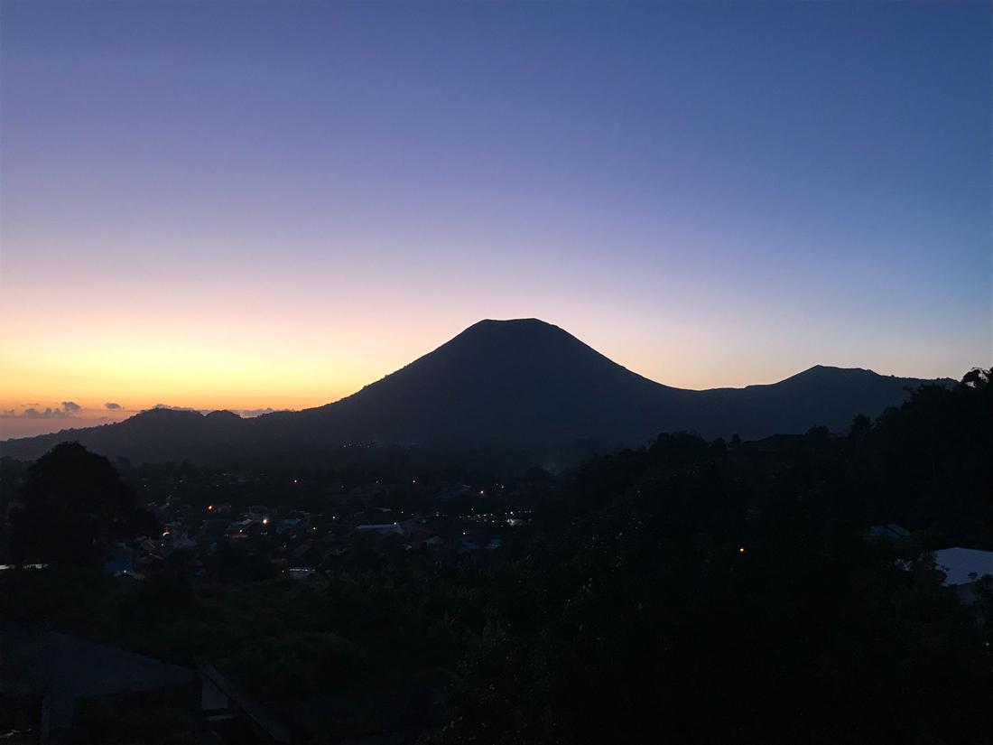 Tomohon Sulawesi Indonésie Coucher de soleil