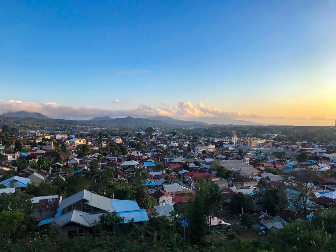 Tomohon Sulawesi Indonésie Ville