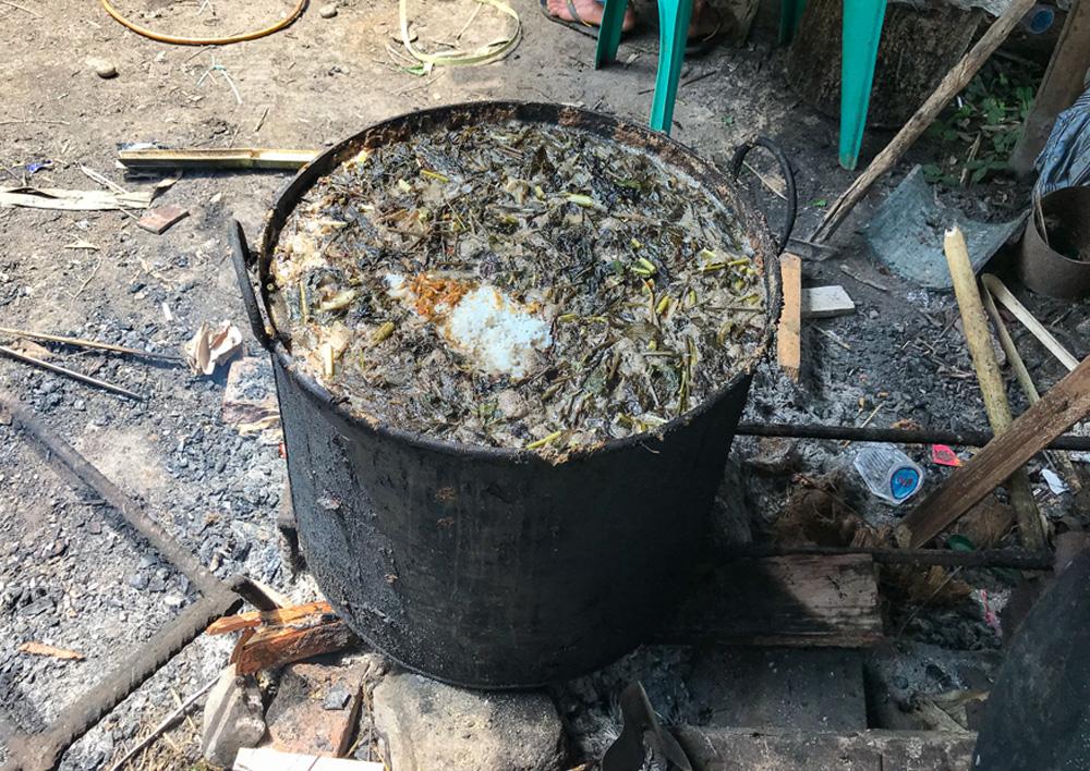 Sulawesi Indonésie Toraja repas pa'piong