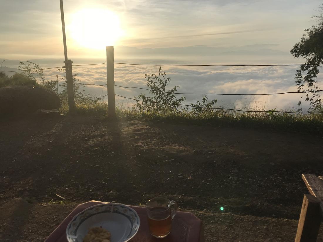 Sulawesi Indonésie Toraja Lolai petit déjeuner