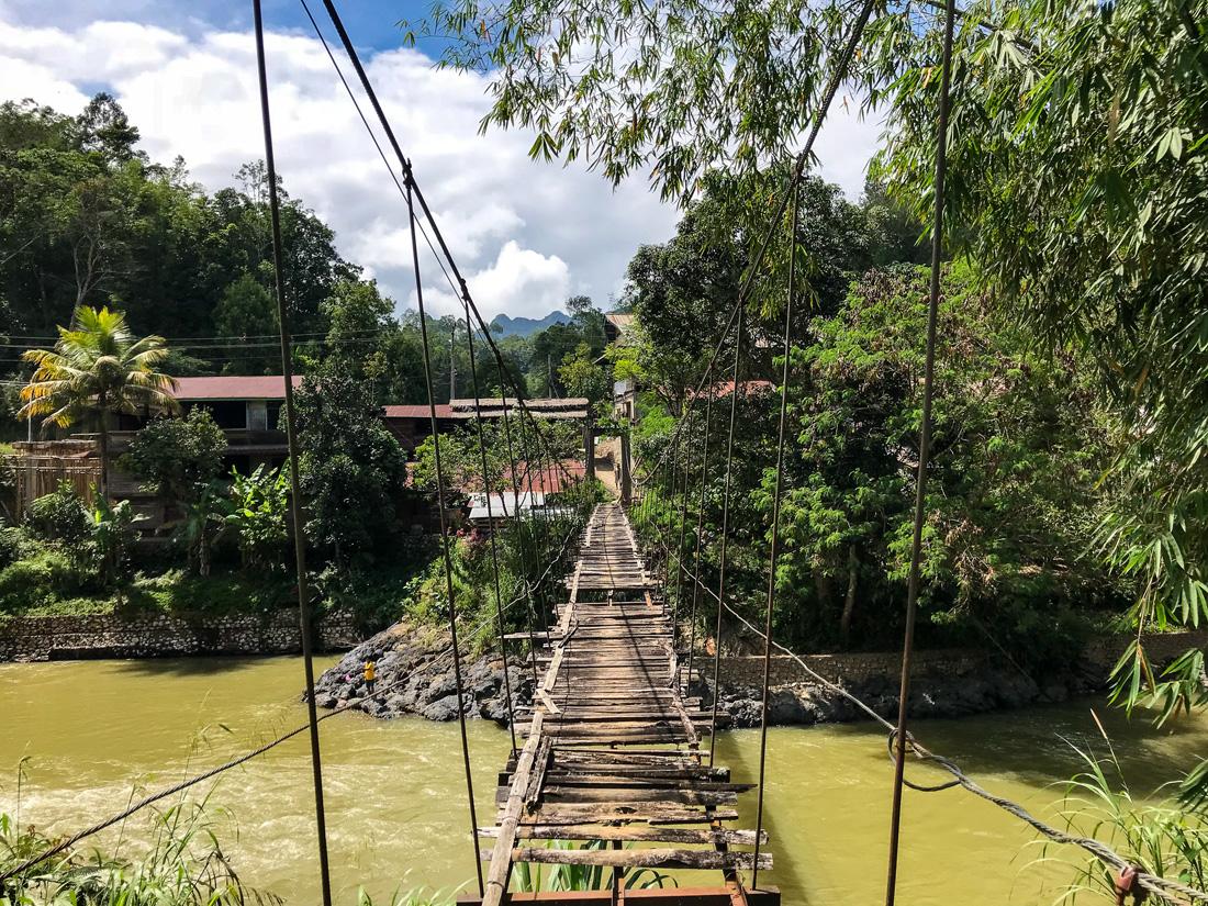Sulawesi Indonésie Toraja pont