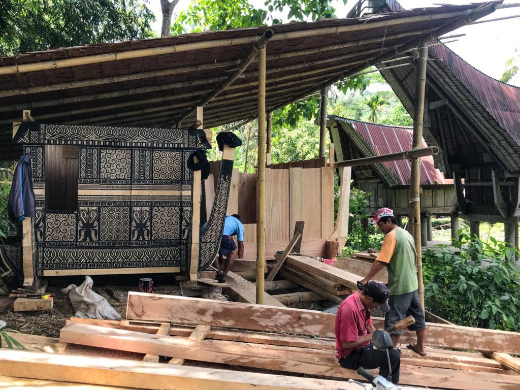 Sulawesi Indonésie Toraja Construction grenier