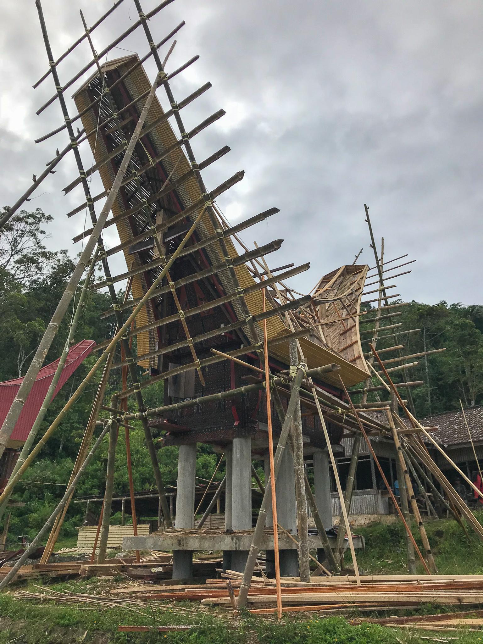 Sulawesi Indonésie Toraja Tongkonan construction
