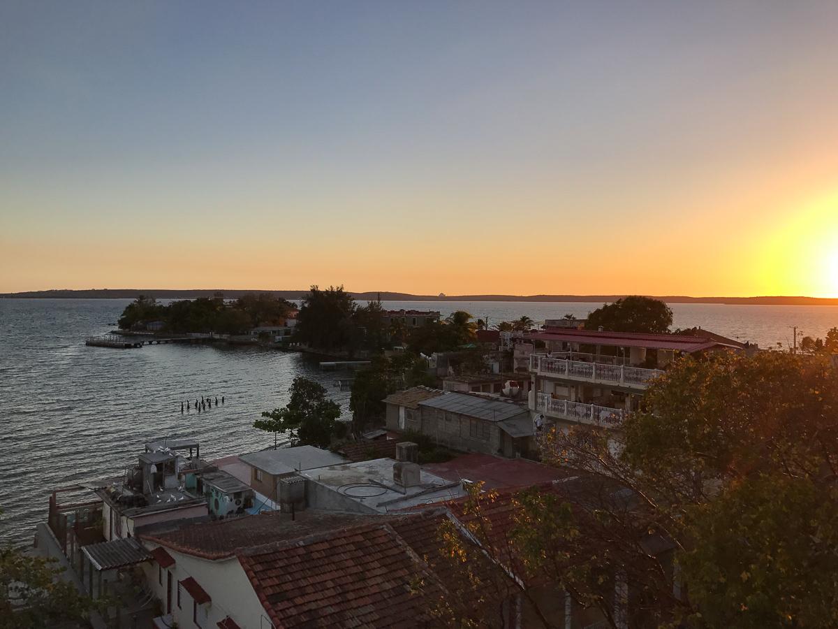 Coucher de soleil à Cienfuegos