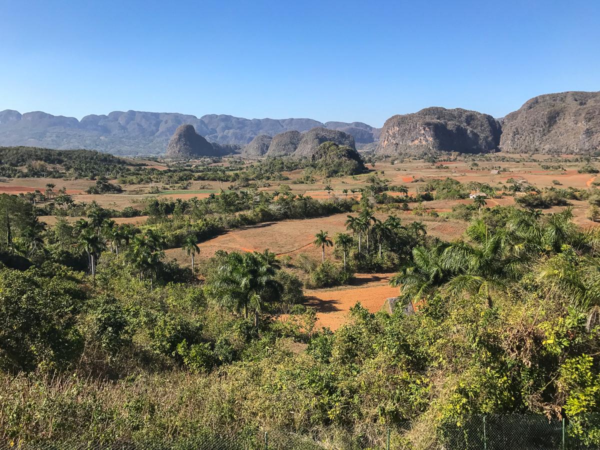 Vue sur la vallée de Viñales depuis Los Jazmines
