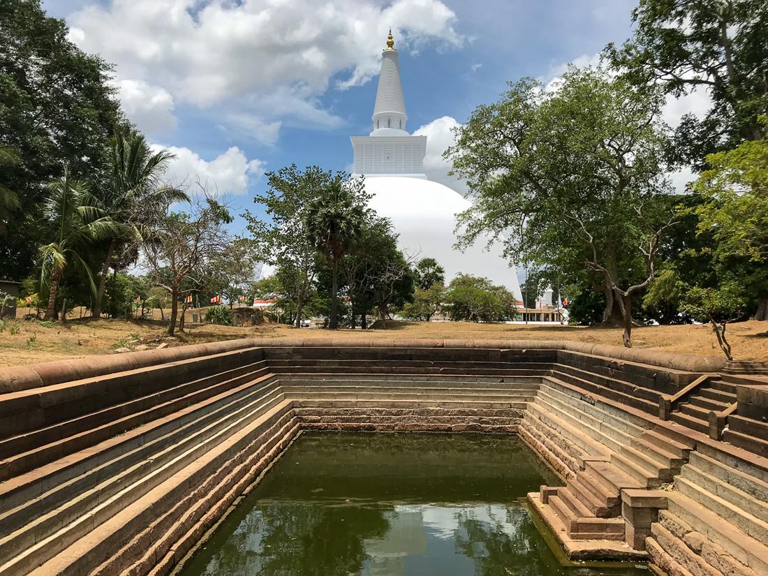 Sri Lanka Anuradhapura Mahavihara Pond