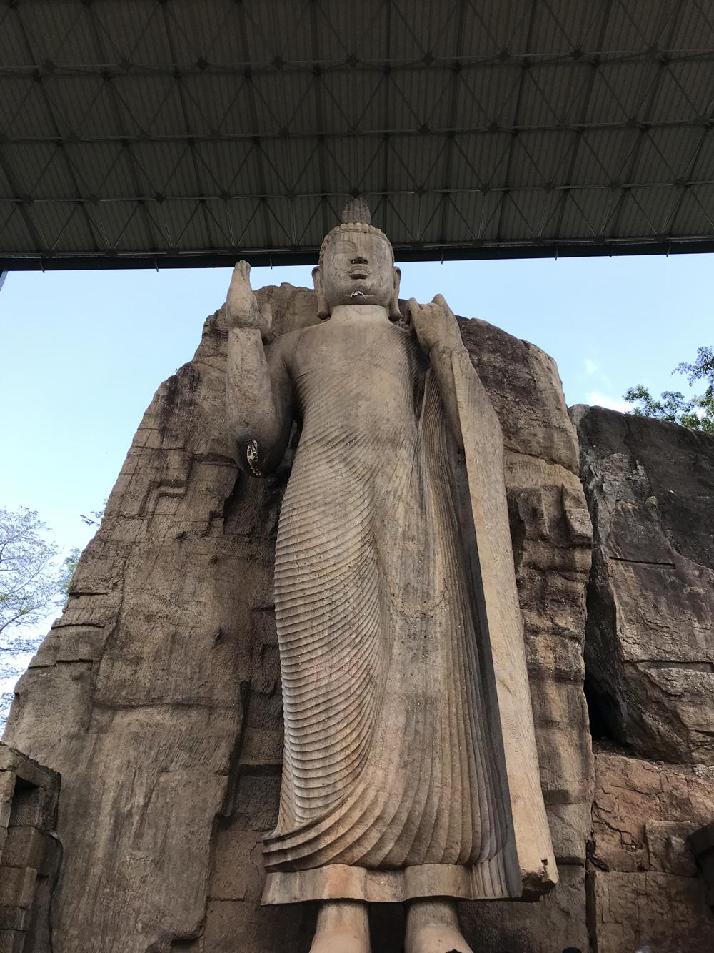 Sri Lanka Awukana Statue Bouddha
