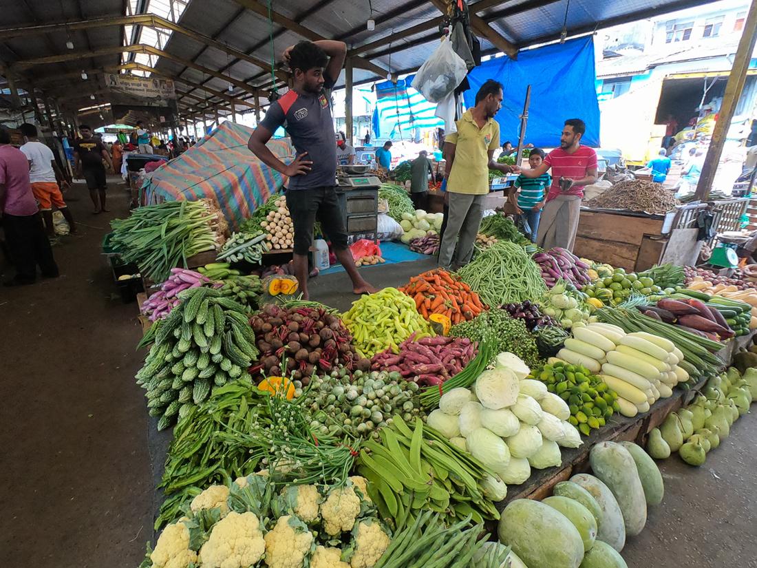 Sri Lanka Colombo Marché Legumes