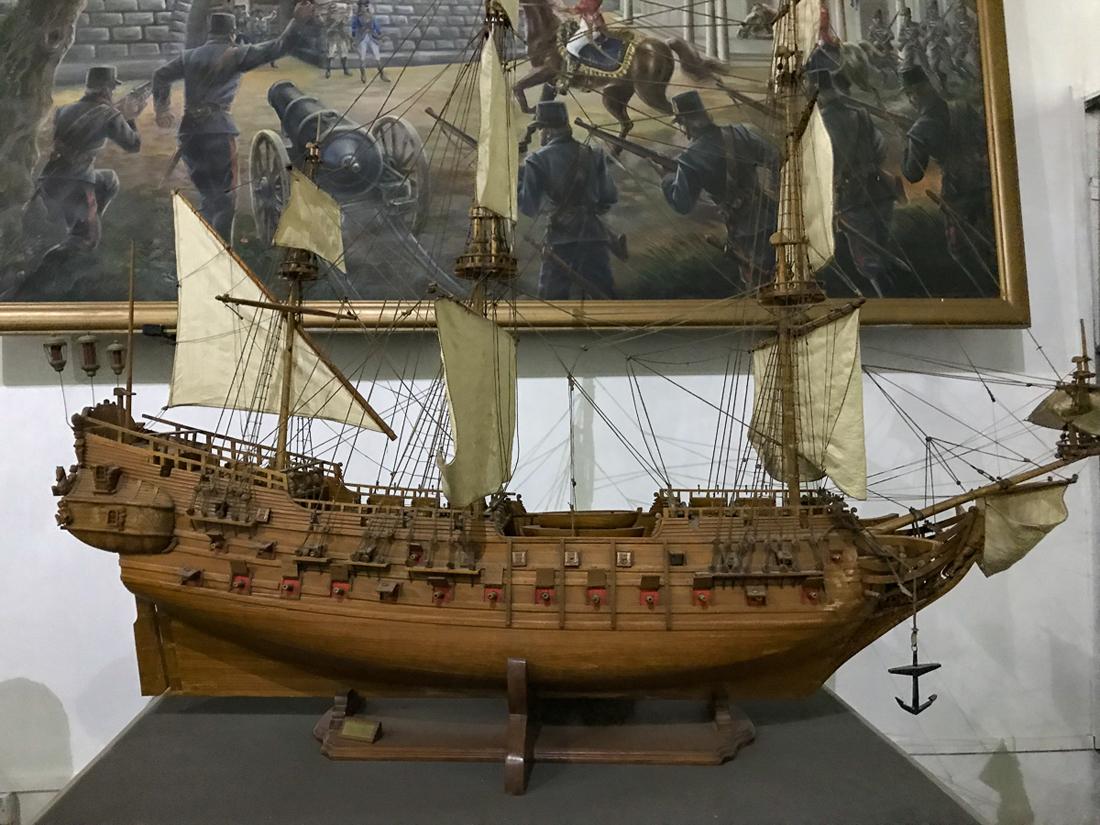 Sri Lanka Colombo Musée marine Bateau Maquette