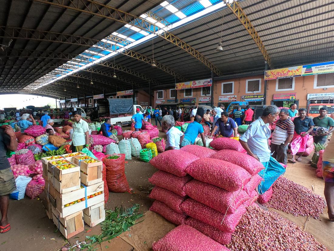 Sri Lanka Dambulla Marché Grossiste Légumes Fruits