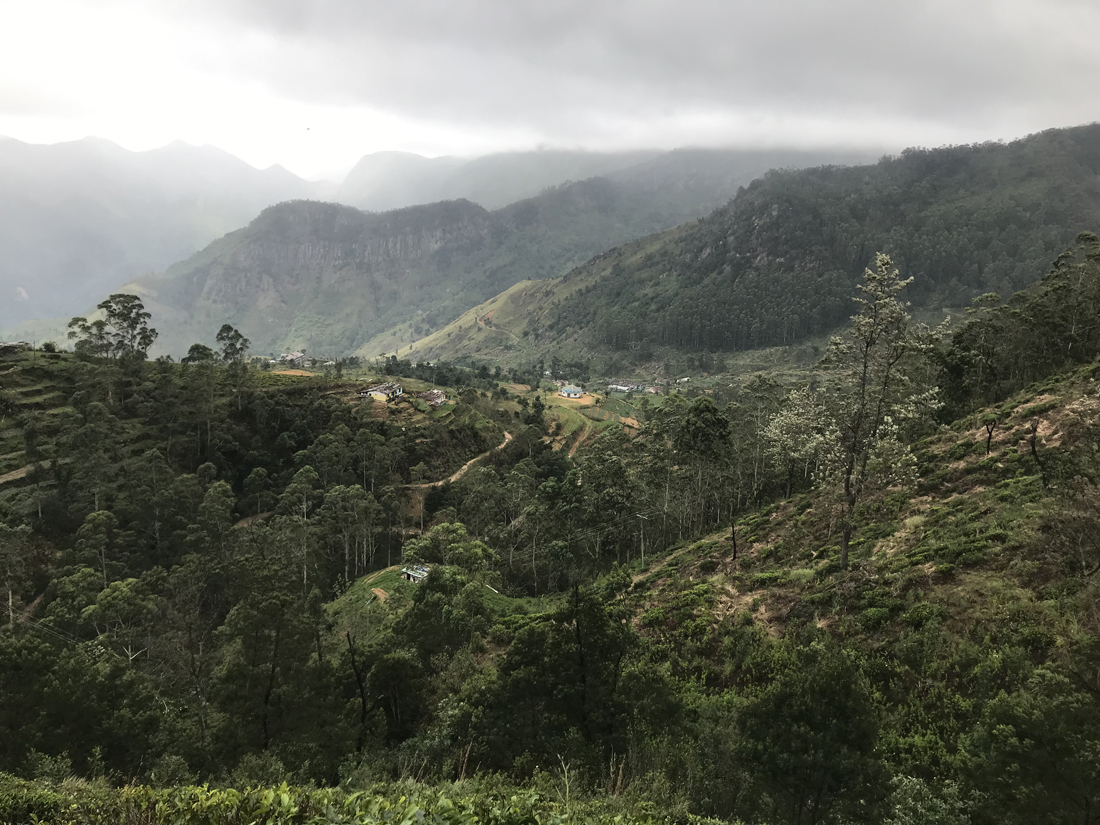 Sri Lanka Haputale Vue Montagne